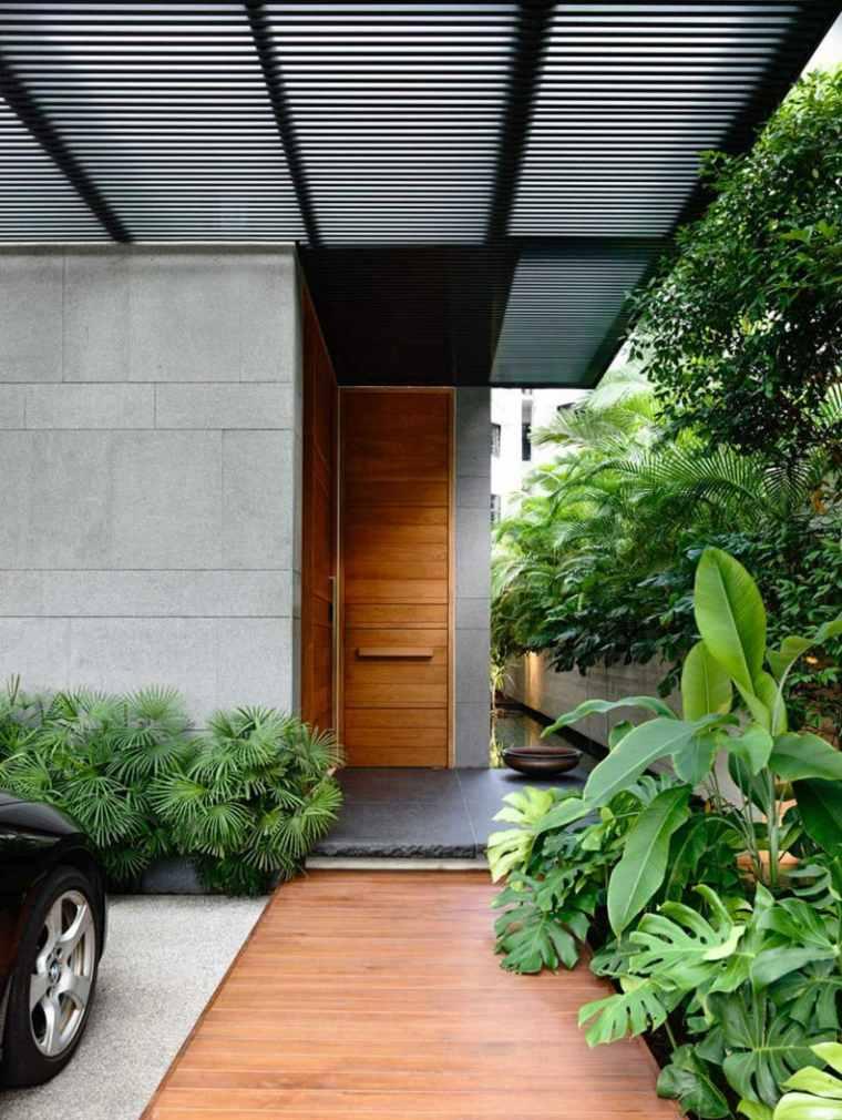 Puertas de madera para el interior y para la entrada de casa - Puerta de entrada ...