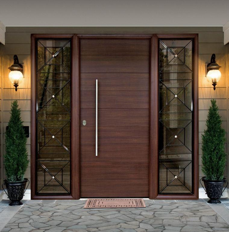 Wooden safety door designs for flats - Puertas de casa ...