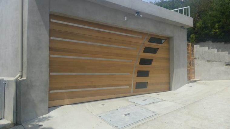 Puertas de garaje modernas y funcionales para la casa for Garajes modelos