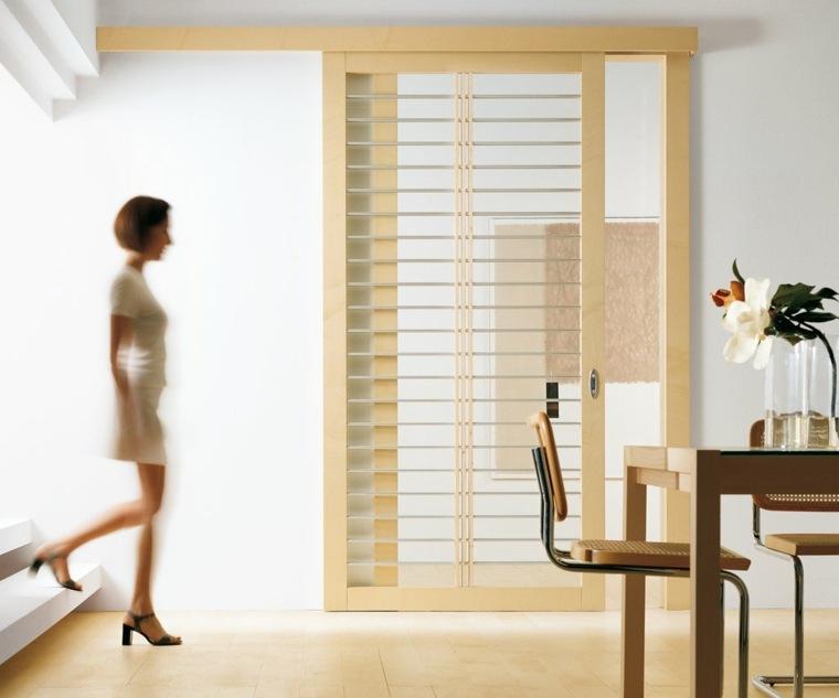 Puertas correderas de cristal para interiores con clase for Bricomania puerta corredera