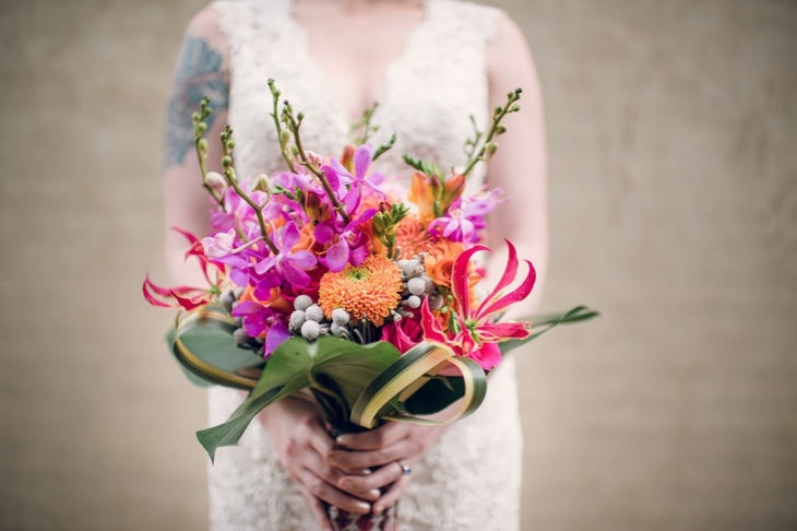 ramo lilias orquideas rosa naranja ideas