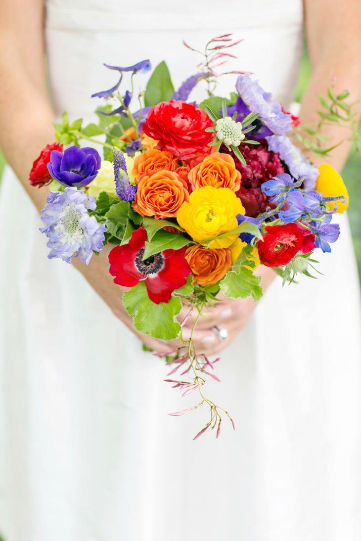 ramo novia flores colores atractivos diseno estilo ideas