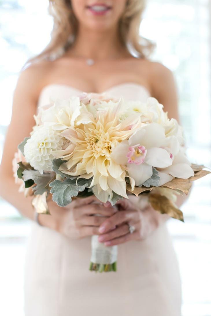 ramos de novia flor marfil flores blancas ideas