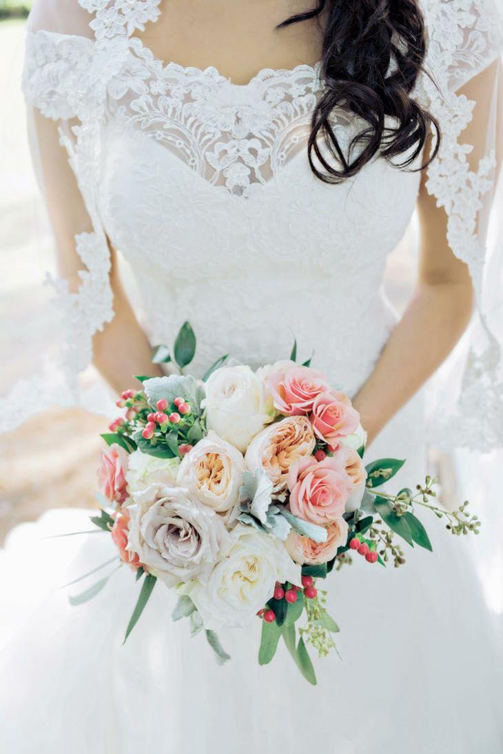 ramos de novia ramo flores colores apagados originales ideas