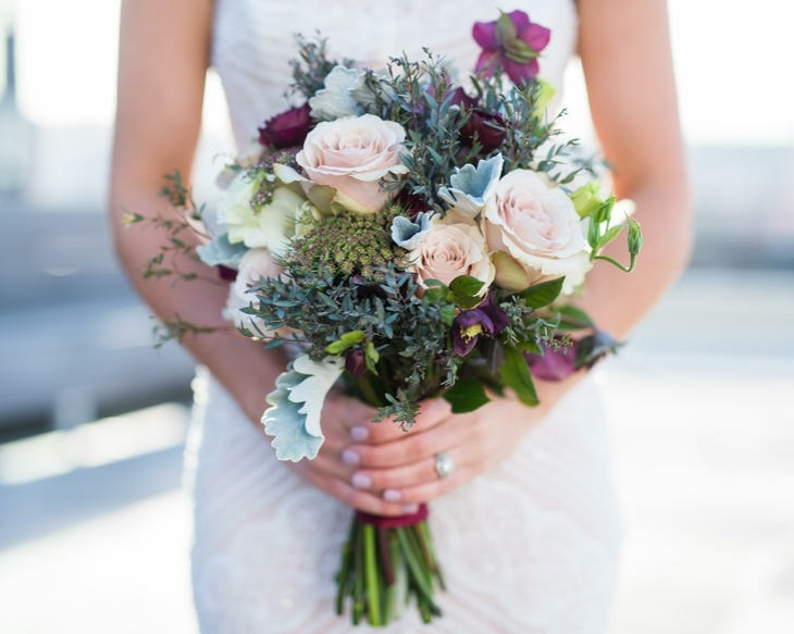 ramos de novia rosas rosa flores silvestres ideas