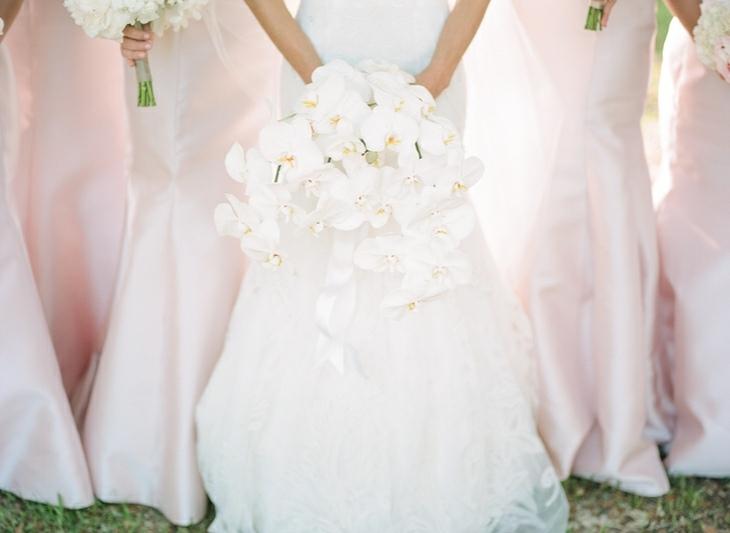 ramos de novia simple orquideas blancas ideas
