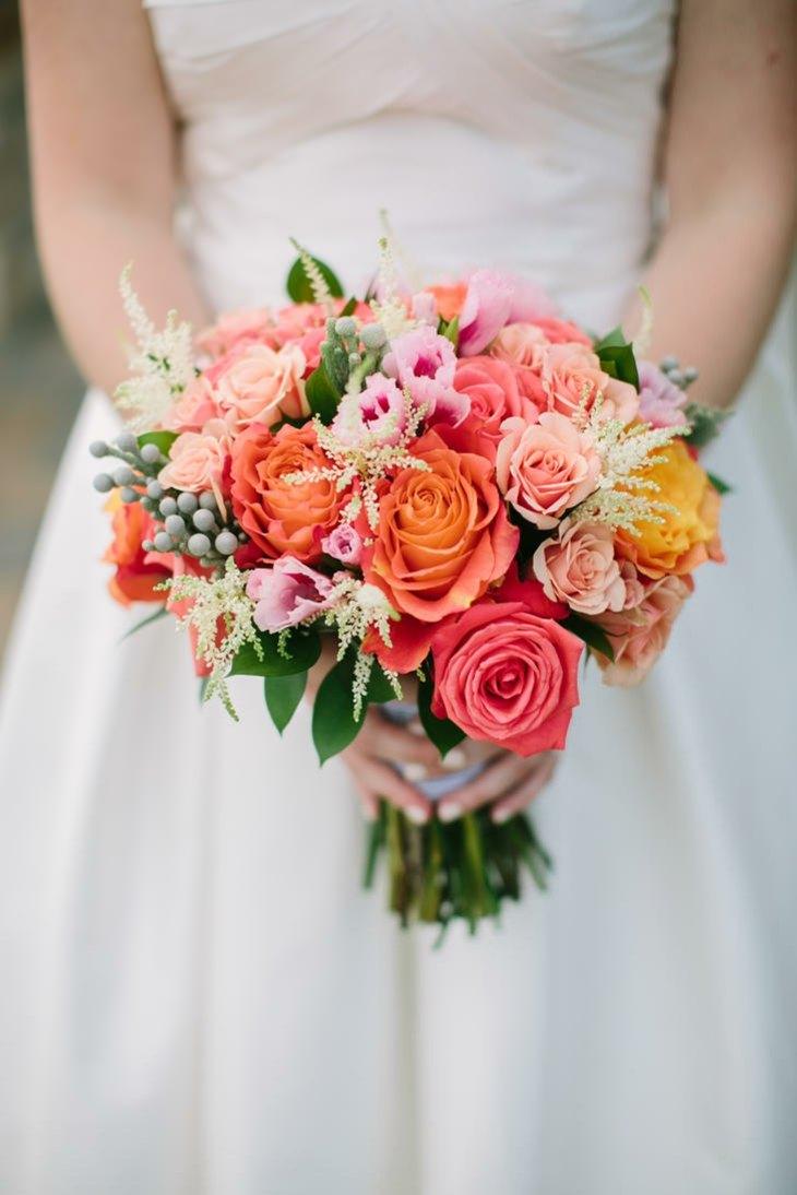 ramos novia flores colores bellos diseno ideas