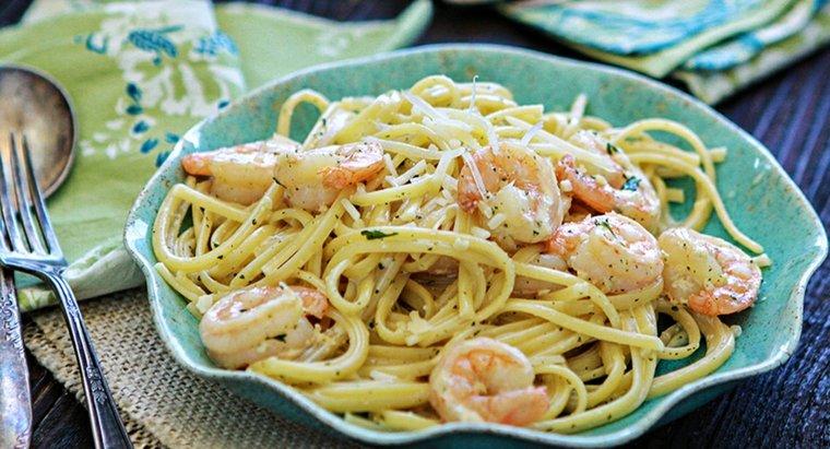 receta de espaguetis con gambas cenar