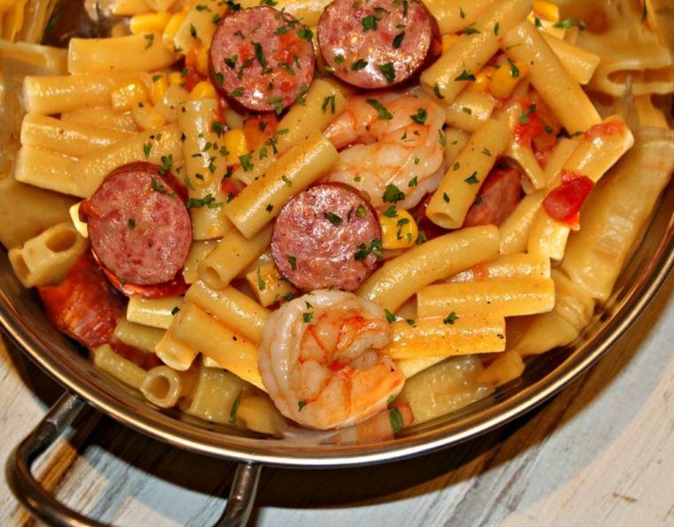 receta de espaguetis con gambas cocinar-cenar