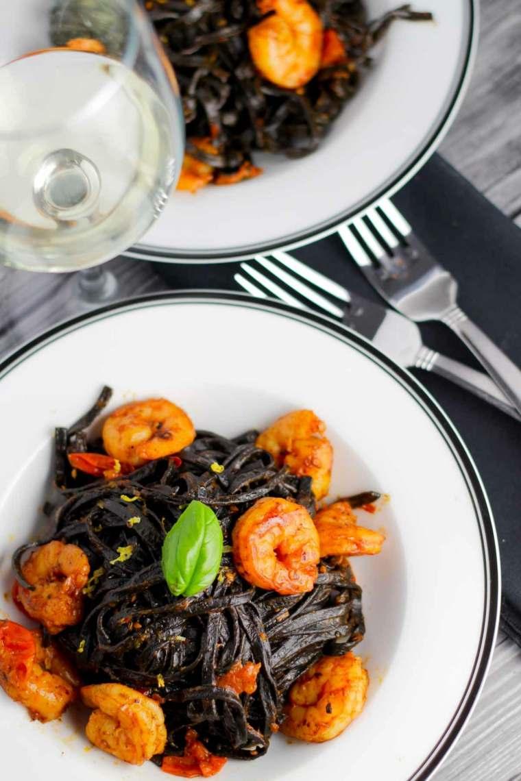 receta de espaguetis con gambas cocinar
