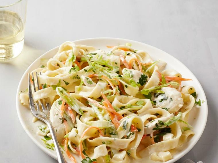 receta de espaguetis con gambas comer-cenar