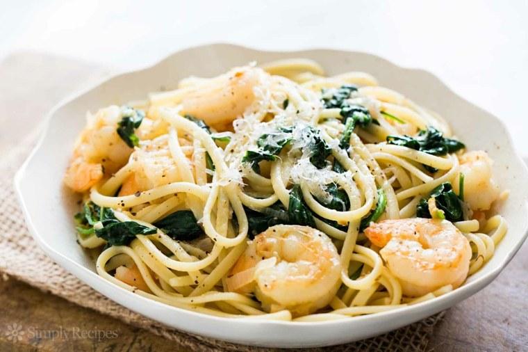 receta de espaguetis con gambas original