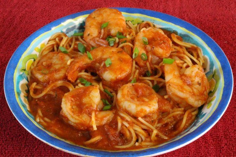 receta espaguetis con gambas