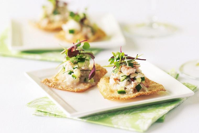 recetas de canapes fríos fáciles de hacer-cangrejo-pepino
