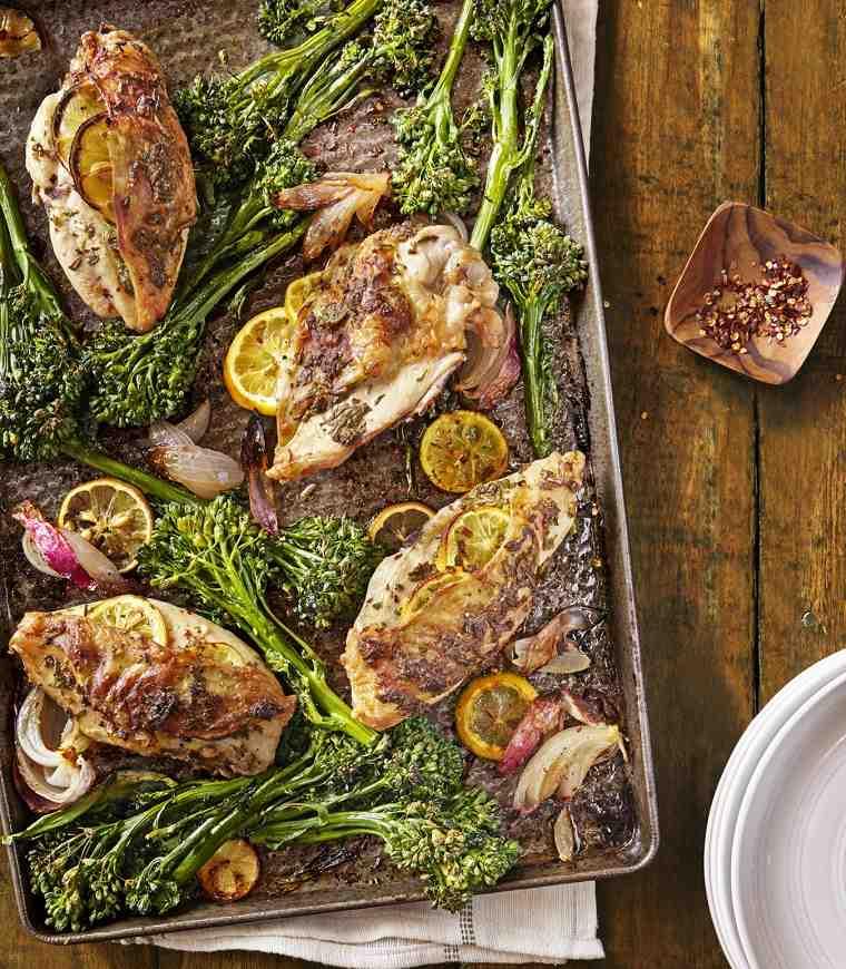 recetas de cocina faciles-pollo-limon-brocoli