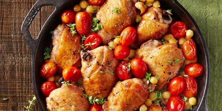 recetas de cocina faciles-pollo-muzlos-garbanzos