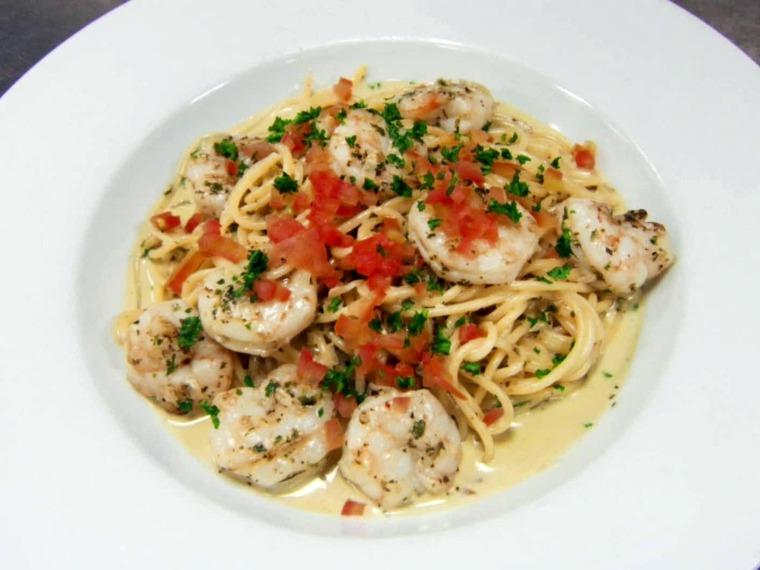 recetas de espaguetis con gambas preparar