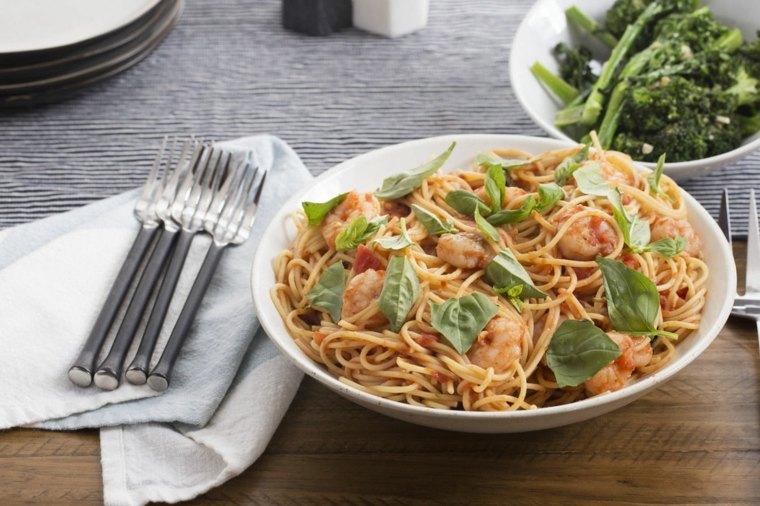 recetas de espaguetis con gambas