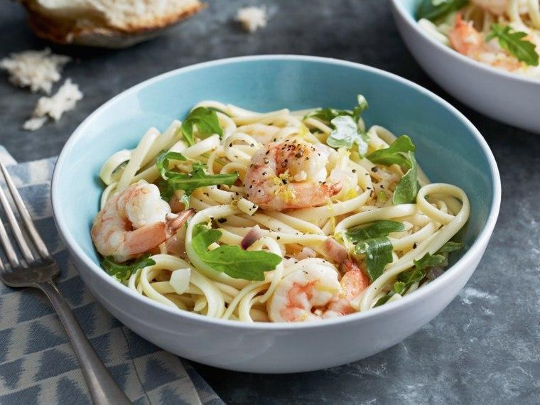 recetas espaguetis con gambas