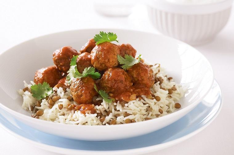 recetas veganas fáciles albondigas lentejas arroz ideas