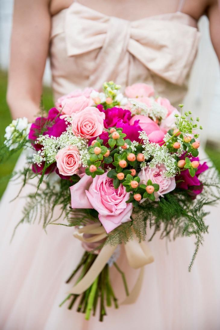rosas bayas diseno ramo floral estilo ideas
