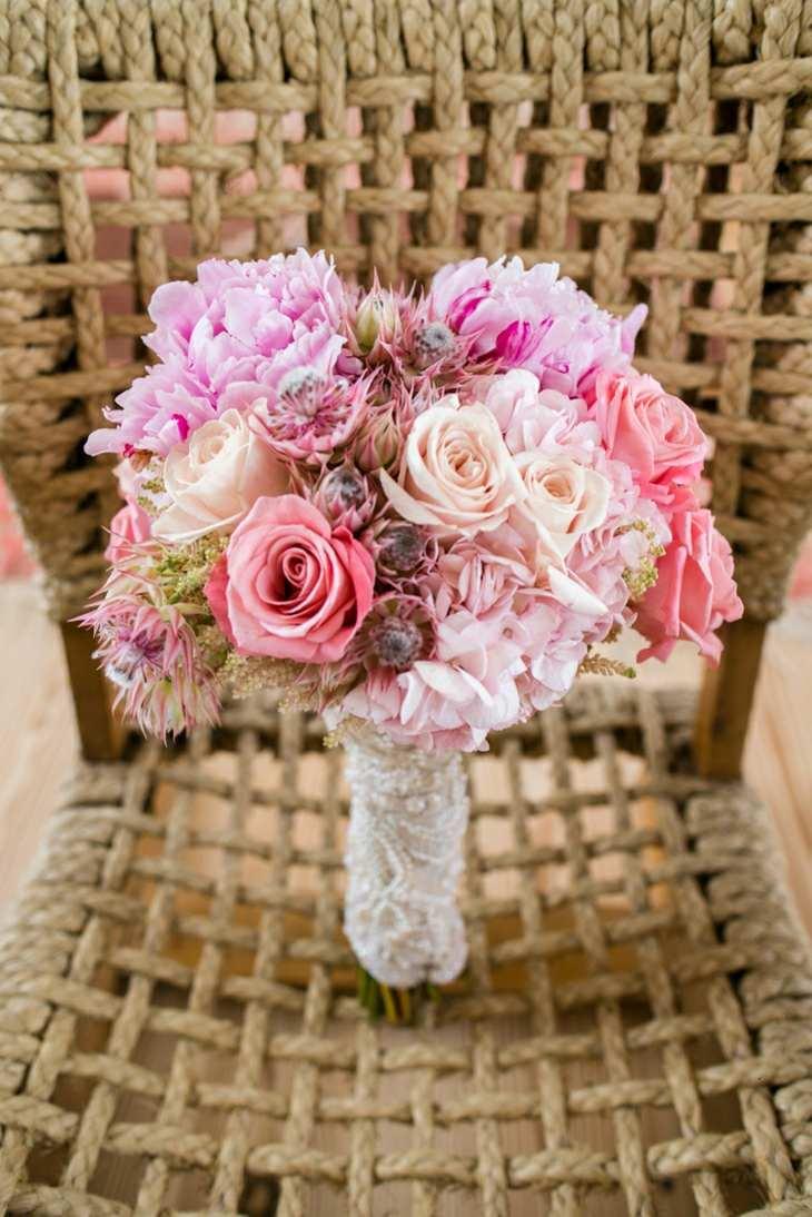 rosas color rosa peonias ramo novia ideas