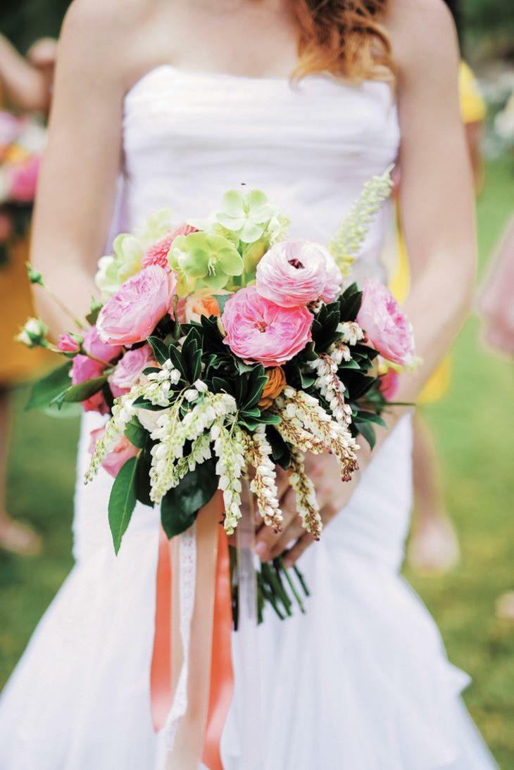rosas jardin ramo rustico rosa amarillo ideas