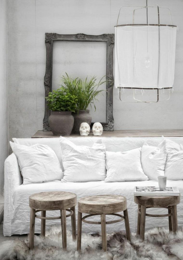 salon rustico decoracion elegante