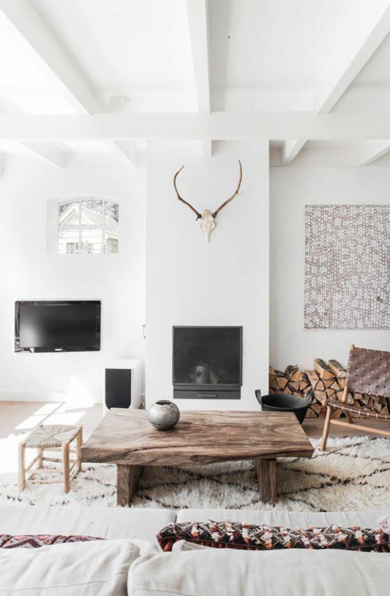 salon rustico elegante moderno