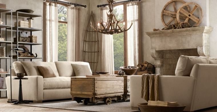 salon rustico moderno decoraicones madera