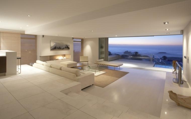 salones vistas escalonados miradores interiores materiales