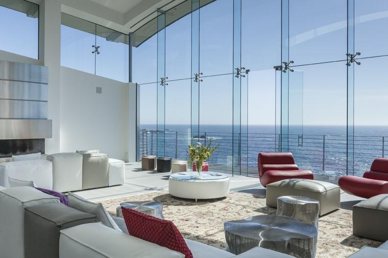 salones vistas linternas cristales materiales conceptos muebles