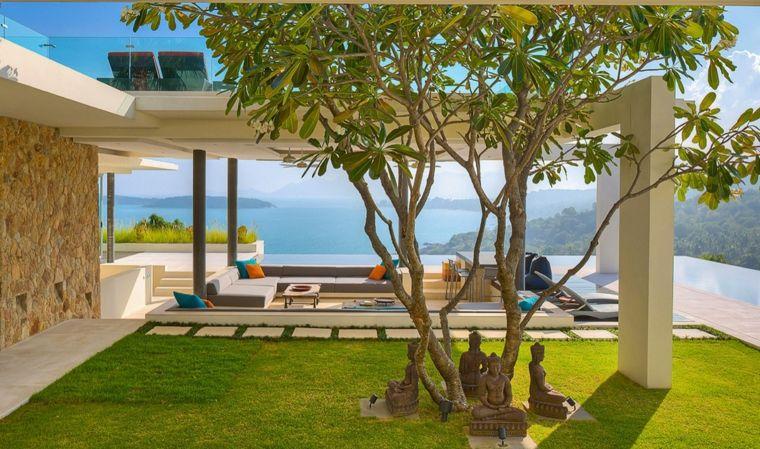 salones vistas verdes pasto colecciones jardines exteriores