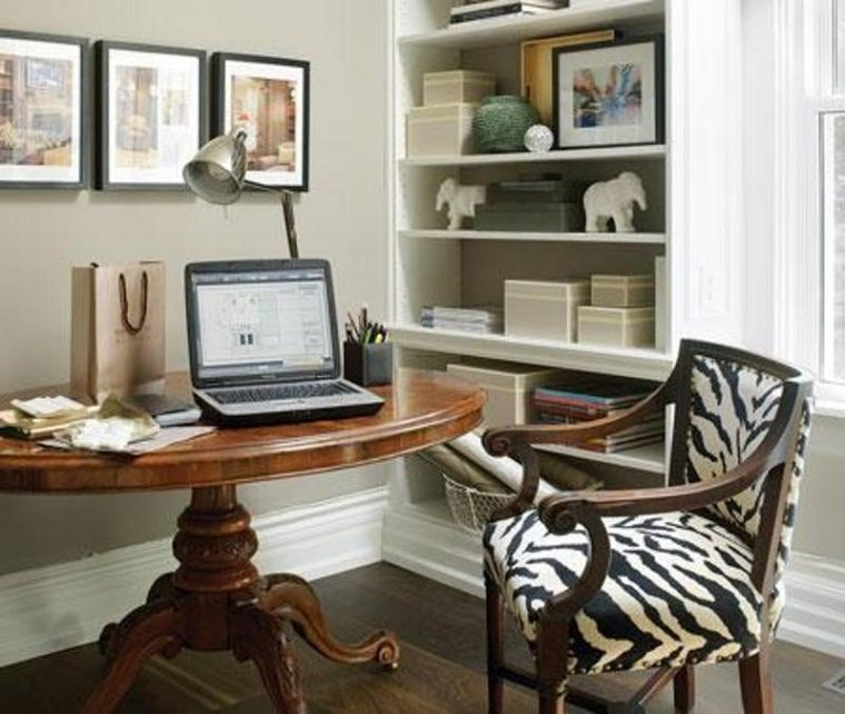 Small Home Office Ideas For Men And Women: Decoración De Despacho Interior Elegante Y Moderno