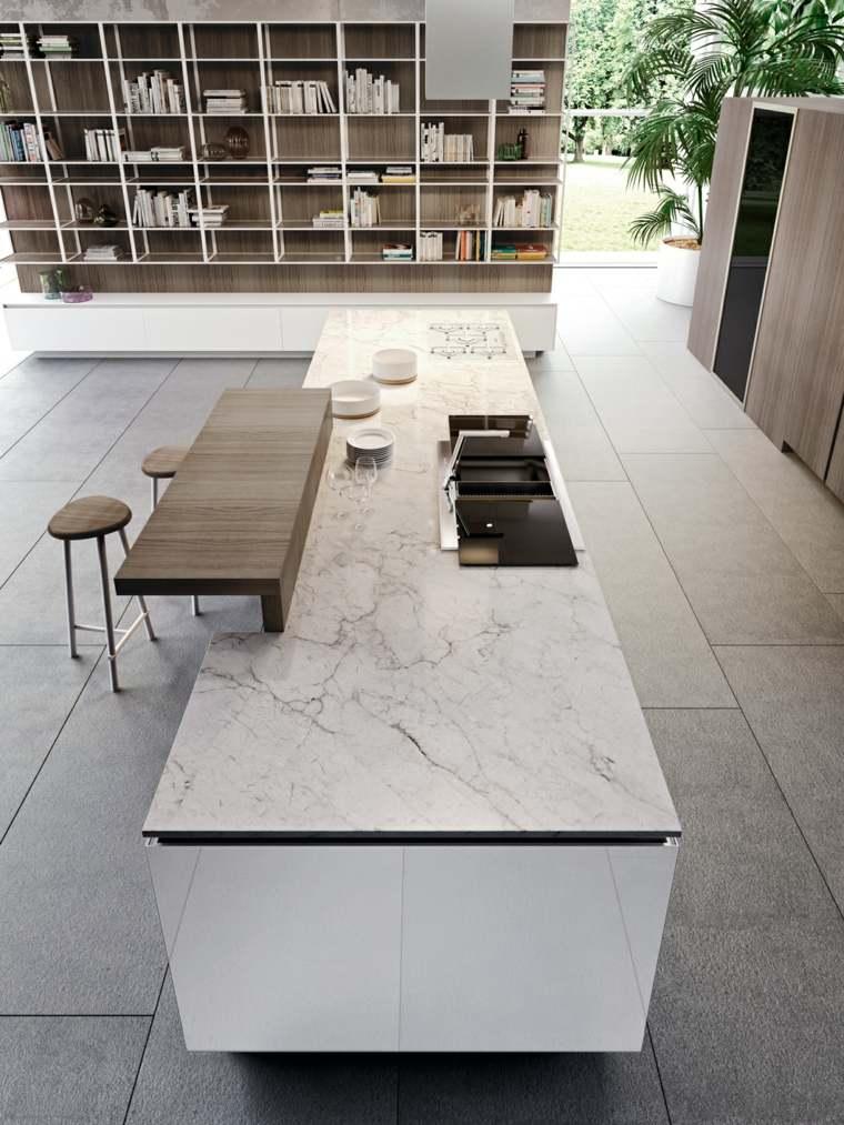 snaidero encimera marmol diseno estilo moderno ideas