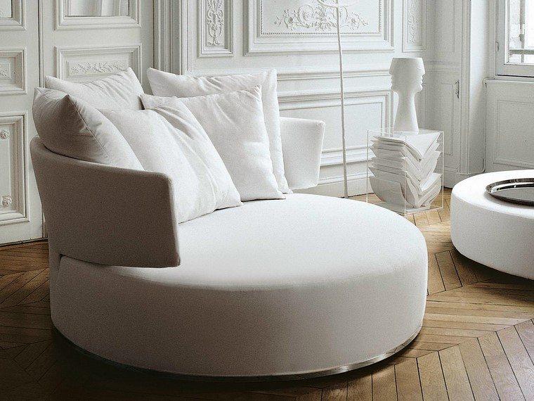 Sof s modernos redondos el complemento perfecto para el for Sillon redondo