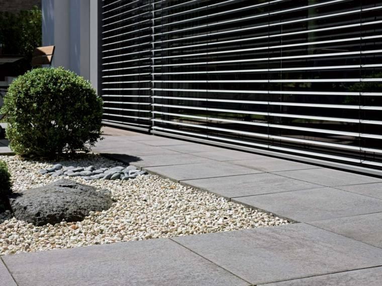 suelo losas granito piedras estilo ideas