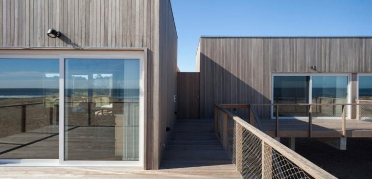 terrazas vistas superiores madera senderos