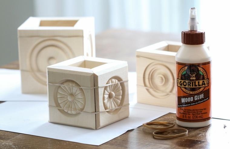 trabajos manuales en madera lapices