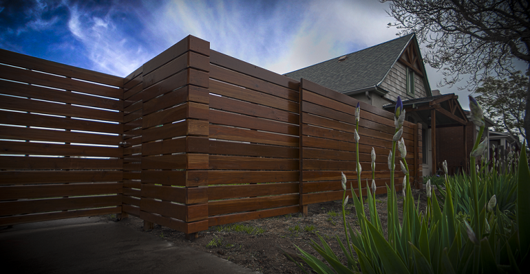 fences designs overlapping wood solutions flowers environments