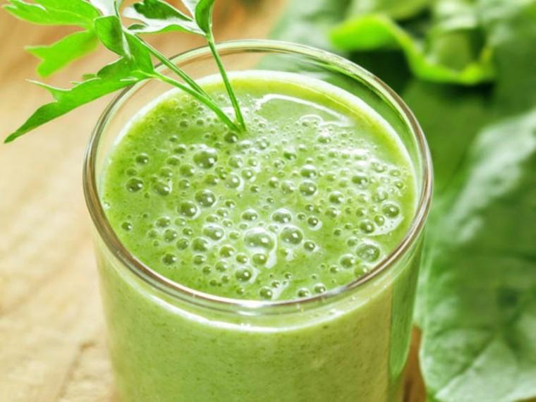 verde batido saludable conceptos materiales entrenamientos