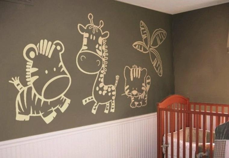 Vinilos infantiles para decorar las paredes de los - Habitaciones infantiles decoracion paredes ...