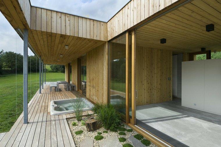casa porche madera