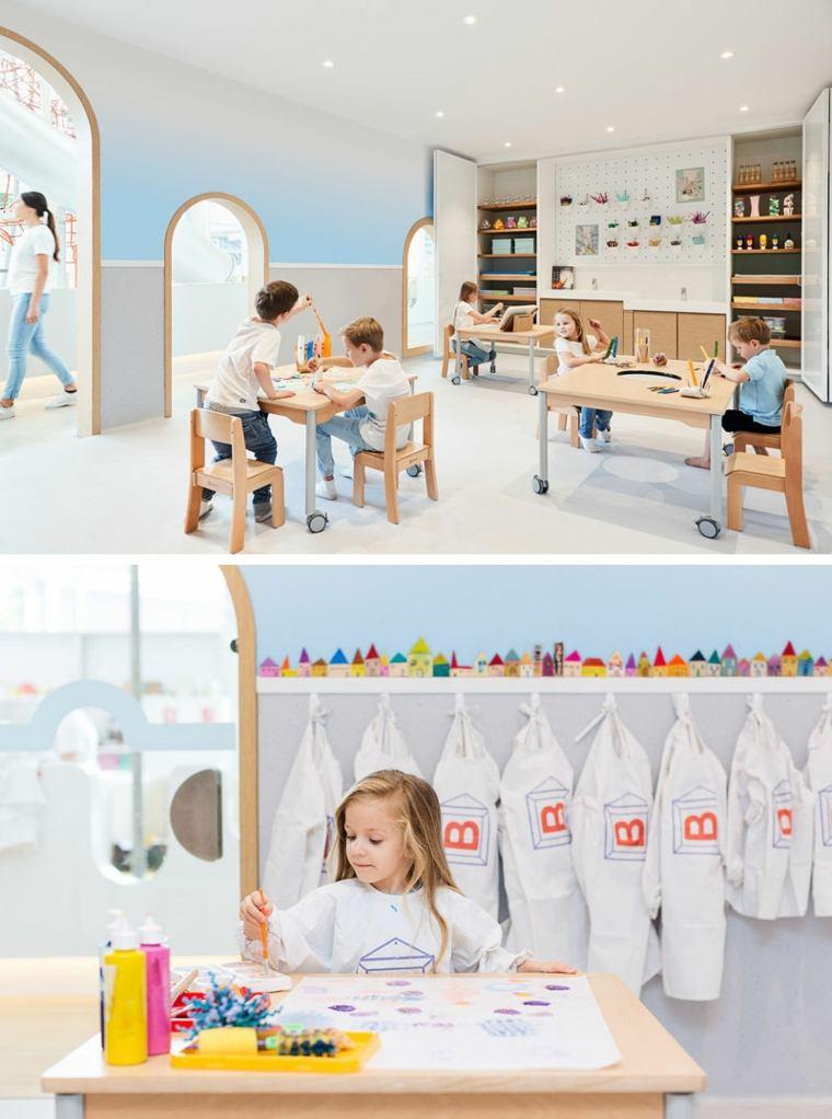 área recreativa-centro-juegos-diseno-ninos-aprenden-juegan