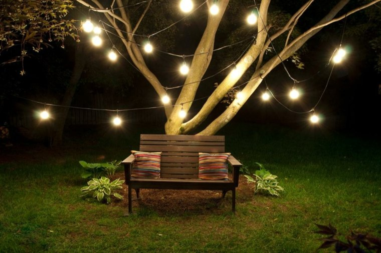 Luces de jard n y estupendas ideas de iluminaci n para for Luces decorativas jardin
