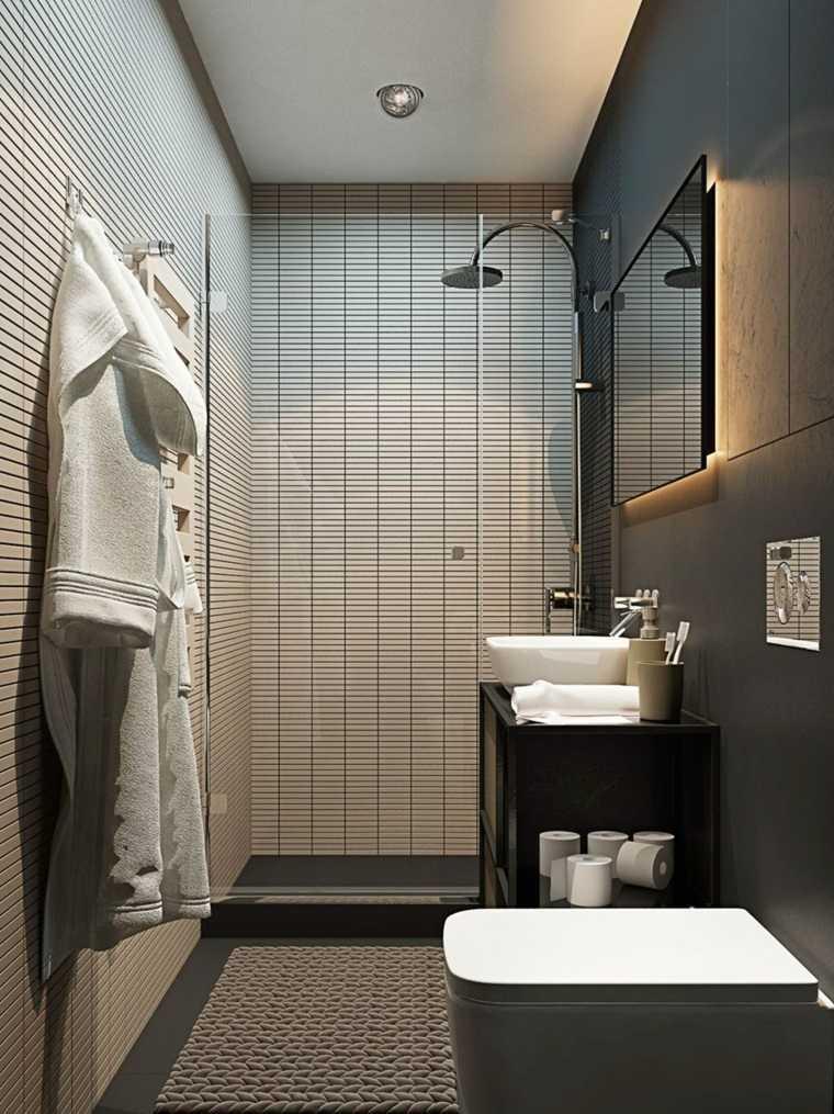 Decoraci n de ba os peque os consejos para espacios - Fotos de banos muy pequenos con ducha ...