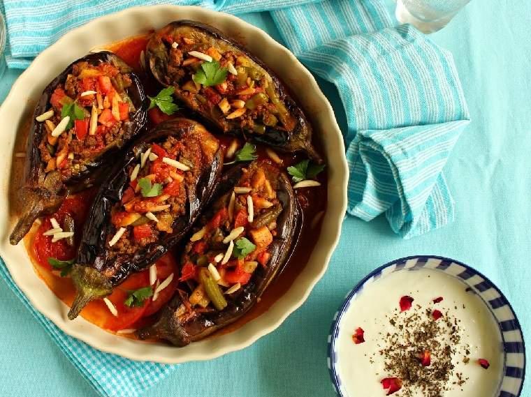 berenjenas rellenas-recetas-horno-estilo-libanes