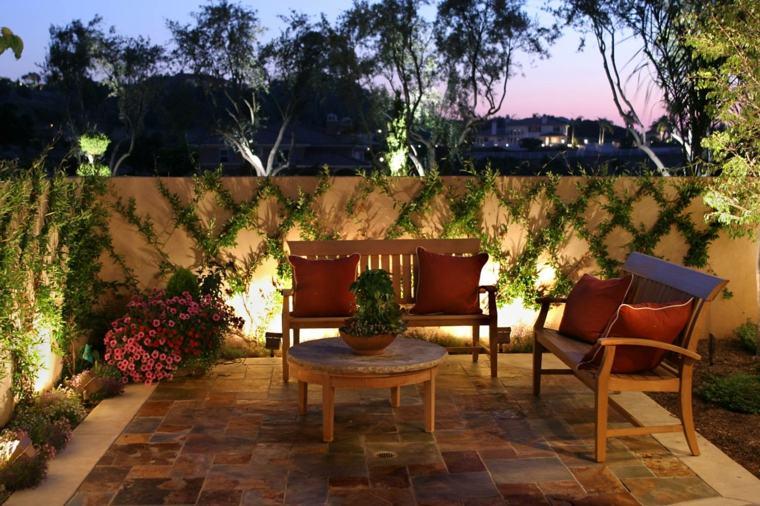 Luces de jard n y estupendas ideas de iluminaci n para for Lamparas para patios exteriores