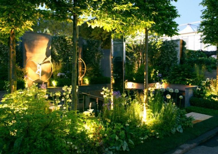 Luces de jardin exterior luces para la terraza oxyled - Luces exterior jardin ...