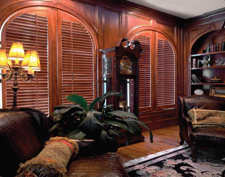persianas de madera elegantes